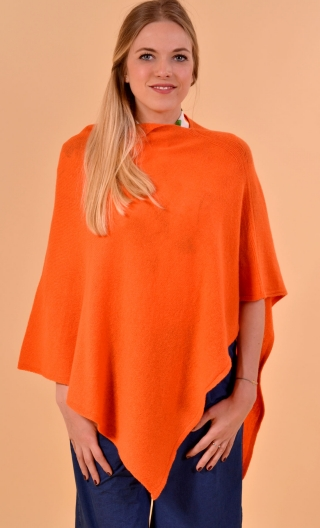 Poncho. Vendée. Orange