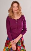 Cardigan Lucy Sweety Betterave, soft and a little warm thanks to the cotton-silk blend
