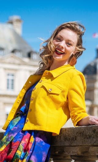 Veste Maman passe son BAC. Splash. Jaune d'or