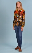 Chemise Elle lisait Sophocle Petites Rivières, Printed long sleeves shirt with cuffs, fluid, mini rounded collar.