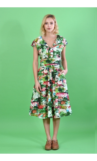 Dress-sixties-print-small-country