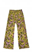 Pantalon Gus Covent Garden violet, printed trousers, wide and a little short, stretch, flat profile, zip side, patch pockets bac