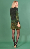 robe Taxi Girl Arty, Printed short dress, long sleeve, trapeze