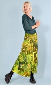 Skirt Portobello in Boutons d'Or Buttercups print, very long and loose
