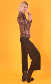 Chemise Abbey Road Bourrasques, Printed jersey shirt, fitted, pointed collar, long sleeve with wrist. Seventies.