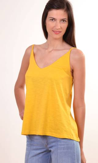 Top Sylphide. Coton Flammé. Jaune d'or